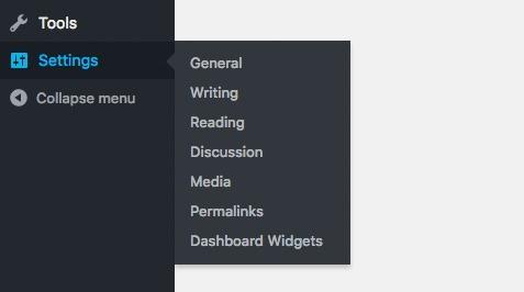 wordpress-settings-menu